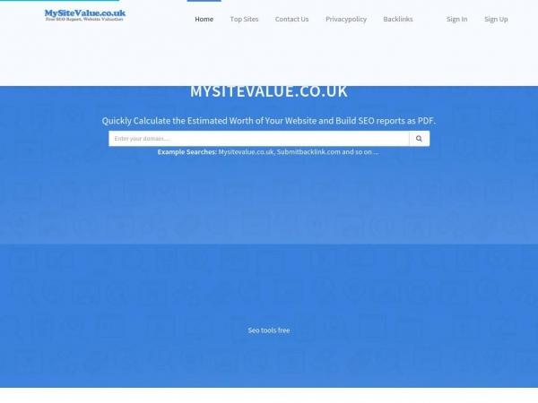 mysitevalue.co.uk