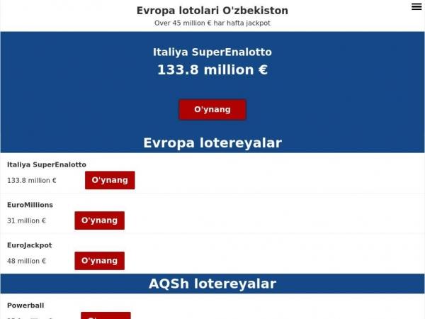 uzbekistan.eurooppalotto.com